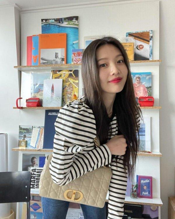 Red Velvet Joy's Outfit on Instagram on January 20, 2021