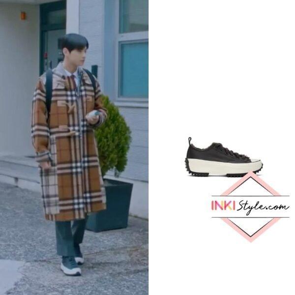 Cha Eun-woo's Black Cozy Club Run Star Hike Low-top Sneaker in True Beauty