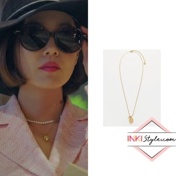 Eugene's Mini Oval Coin Necklace in Penthouse