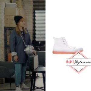 Park So-Dam's White & Pink Chuck Taylor All Star Sneakers in Record Of Youth