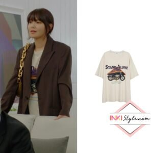 Sooyoung's Motorcycle Print Big Tee in Run On