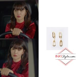 Sooyoung's Noblesse Chain Drop Earring in Run On