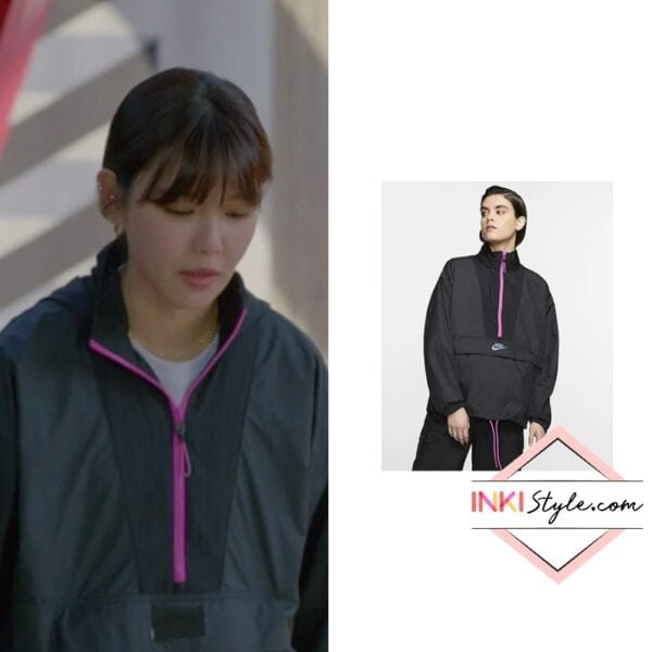 Sooyoung's Sportwear Icon Clash Jacket in Run On