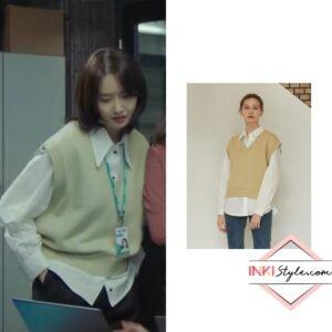 Yoona's Knit Vest in Hush