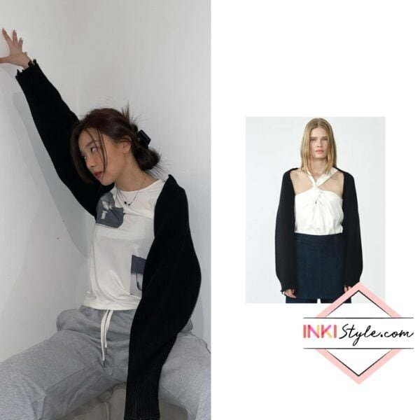 Red Velvet Seulgi' Wool Blended Bolero Knit Top on Instagram