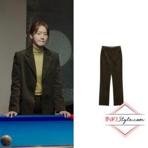 Yoona's Corduroy Bootcut Pants in Hush
