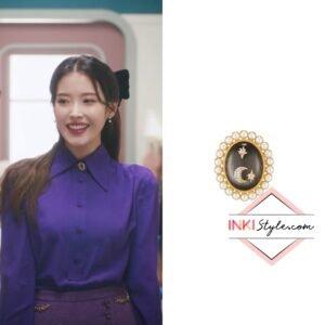 IU's Oldmoon Antique Pearl Brooch in Lilac MV