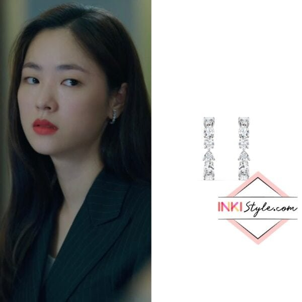 Jeon Yeo-bin's Tennis Deluxe Mixed Pierced Earrings in Vincezo
