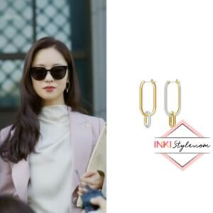 Jeon Yeo-bin's Time Hoop Pierced Earrings in Vincenzo