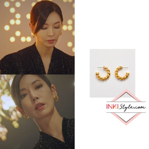Kim So-yeon's Retro Hoop Earring in Penthouse 2