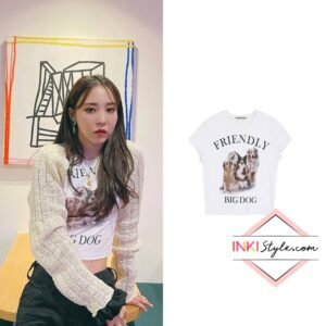 Mamamoo Moonbyul's Big Dog Baby T-shirt on Instagram