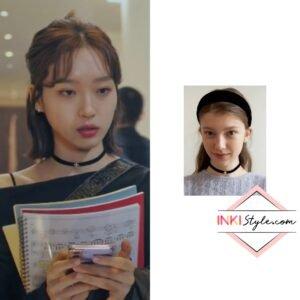Han Ji-hyun's Pearl Cross Velvet Choker in Penthouse 2