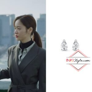 Jeon Yeo-bin's Attract Pear Stud Pierced Earrings in Vincenzo