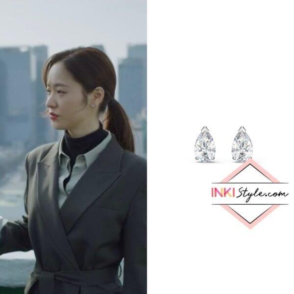 Jeon Yeo-bin's Attract Pear Stud Pierced Earrings in Vincenzo