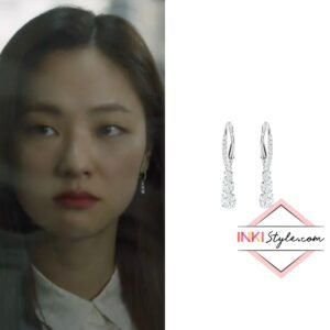 Jeon Yeo-bin's Attract Trilogy Round Pierced Earrings in Vincenzo