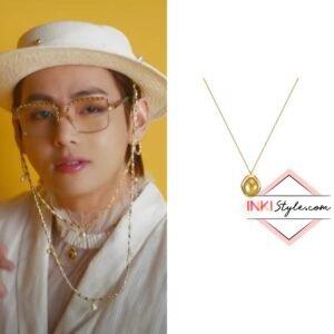 BTS V's Volume Pendant Necklace in Butter MV