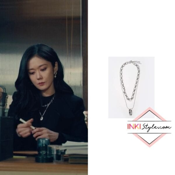 Jang Na-ra's Snake And Chunky Chain Set Necklace in Sell Your Haunted House