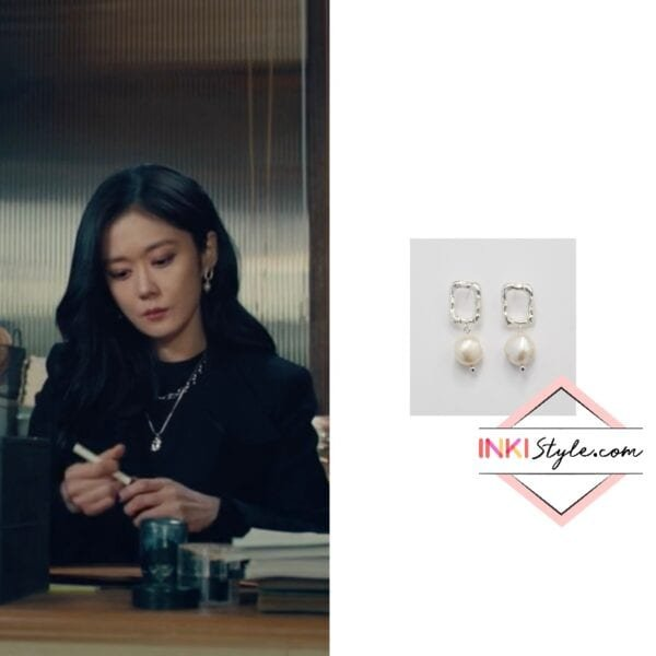 Jang Na-ra's Square Pearl Drop Earring in Sell Your Haunted House
