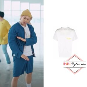 BTS RM's Logo Organic Cotton T-shirt in 'Butter' Special Performance Video