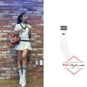Blackpink Jennie's Solid Crew Socks on Instagram