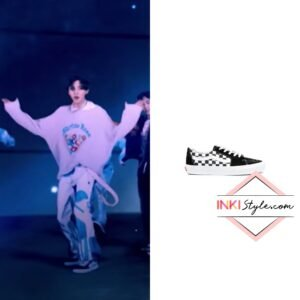 EXO Chanyeol's Checkerboard Print Sk8-Lo Sneaker - Don't Fight The Feeling