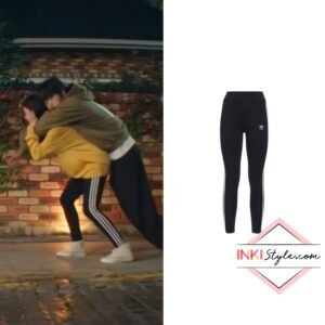 Hyeri's 3 Stripe Tight Cotton Leggings in My Roomate Is A Gumiho