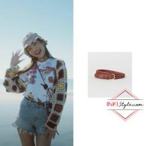 Red Velvet Joy's Braided Belt in Hello MV