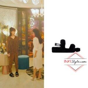 Han Ji-hyun's Oh Yeah Shearling Slides in Penthouse 3