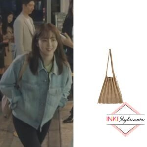 Han So-hee's Lucky Pleats Knit Bag M in Nevertheless