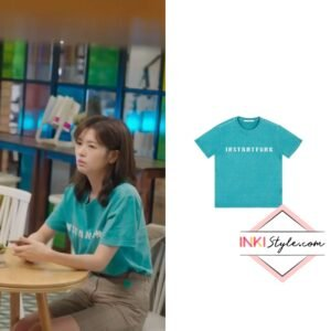 Jung So-min's Pigment Dyed T-shirt in Monthly Magazine Home