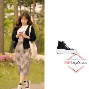 Park Bo-young's Black Chuck Taylor All Star Move Hi Sneaker in Doom At Your Service