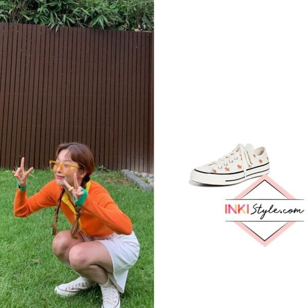 Red Vevet Seulgi's Chuck Embroidered Garden Party Sneaker on Instagram