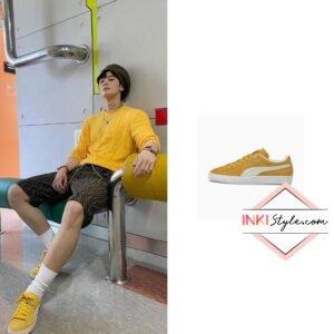 Astro Eunwoo's Suede Classic XXI Men's Sneaker on Instagram