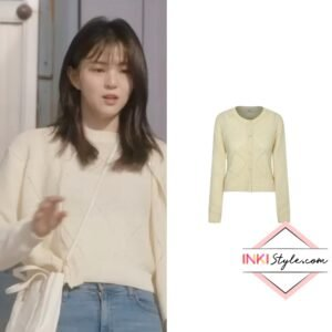 Han So-hee's A Diamond Knit Cardigan in Nevertheless