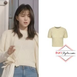 Han So-hee's A Diamond Knit Top in Nevertheless