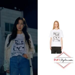 Lee Ji-ah's White 'Undercover Records' T-shirt in Penthouse 3