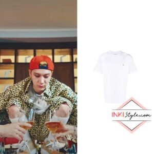 NCT Ten's Embroidered Logo Cotton T-shirt in Paint Me Naked MV