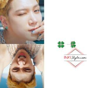 NCT Ten's Mini Clover Post Earring in Paint Me Naked MV