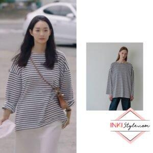 Shin Min-ah's Avamappartment Stripe T-shirt in Hometown Cha-cha-cha