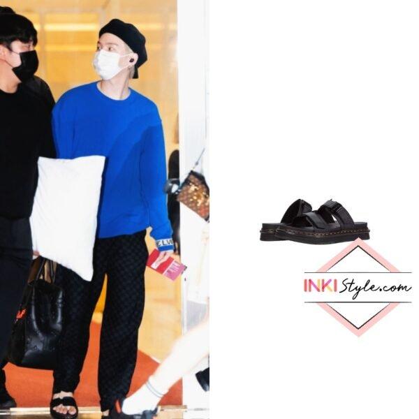 BTS Suga's Chilton Sandals at Incheon Airport