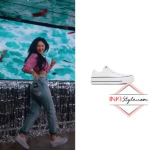 Mamamoo Hwasa's White Chuck Taylor All Star Lift Low Sneaker in Mumumumuch MV