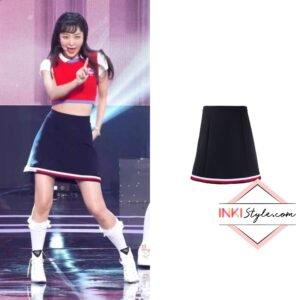 Red Velvet Seulgi's A-line Mini Skirt on 'Queendom' Performance on Music Core