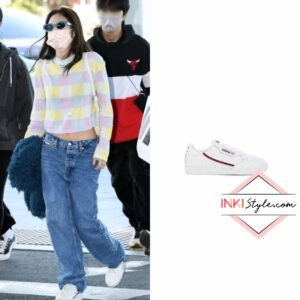 BLACKPINK Jennie's Continential 80 Leather Sneakers at Incheon Airport