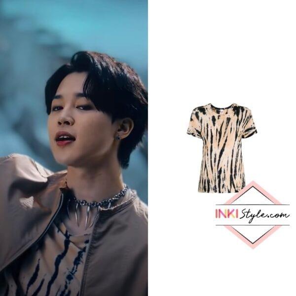 BTS Jimin's Tiger Print T-shirt in My Universe MV