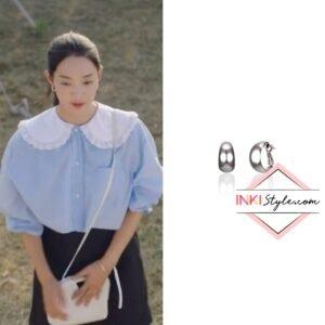 Shin Min-ah's Glossy Hoop Earring in Hometown Cha-cha-cha