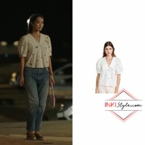 Shin Min-ah's Royce Short Sleeve Collar Blouse in Hometown Cha-cha-cha